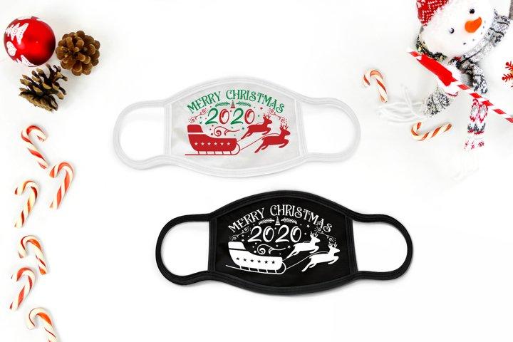 Merry Christmas 2020, Christmas Mask Design SVG, DXF, PNG