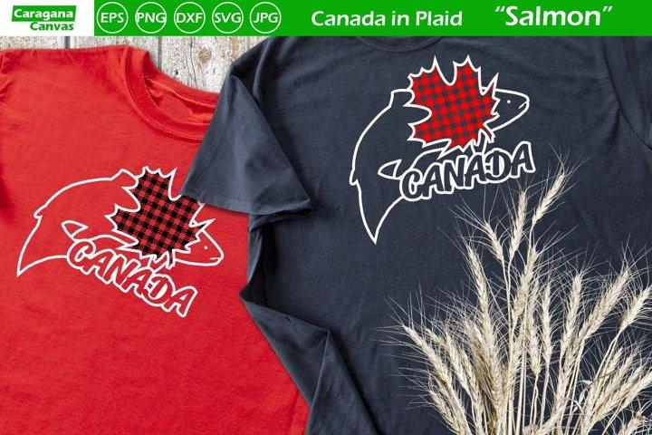 Canada in Plaid - Salmon