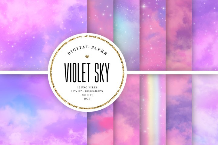 Violet Sky Aesthetic Backgrounds