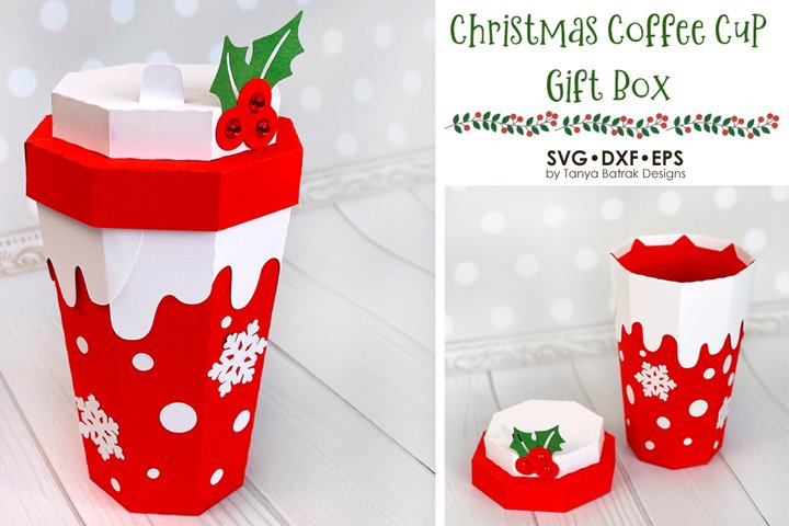 Christmas Coffee Cup Box