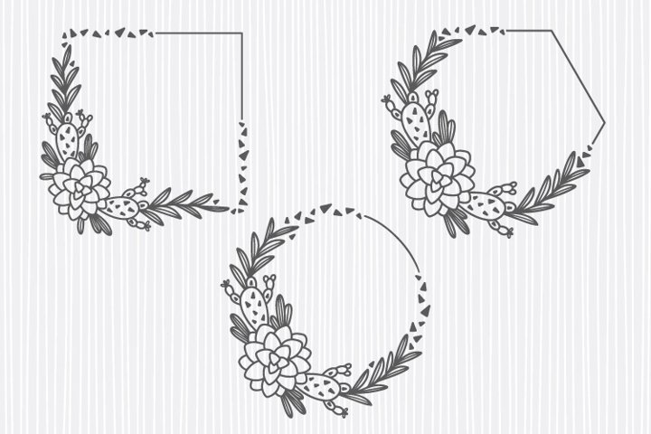Cactus frame svg bundle