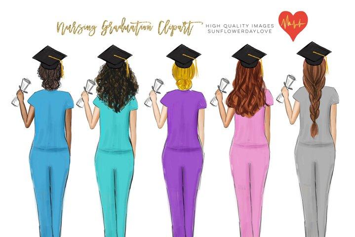 Graduation College Girl Clip Art, Nurse Nursing clipart