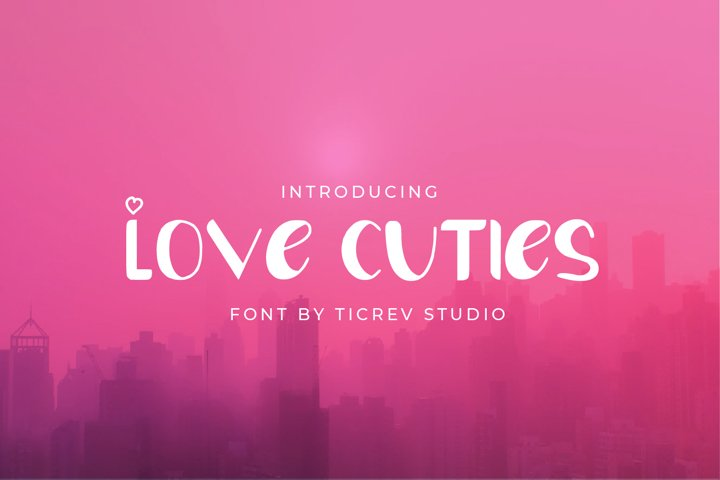 Love Cuties - Display Font