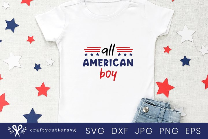 All American Boy, 4th of July SVG Design, Family shirts SVG