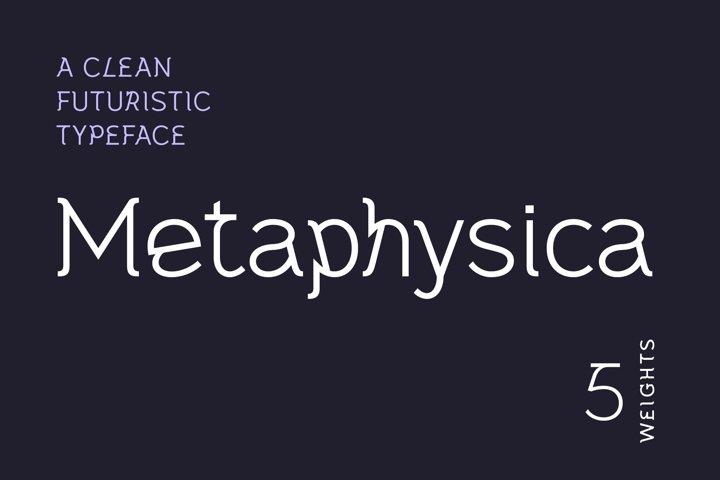 Metaphysica | A Clean Futuristic Typeface