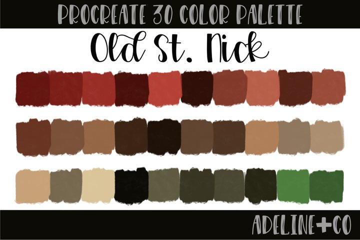Old St. Nick procreate color palette