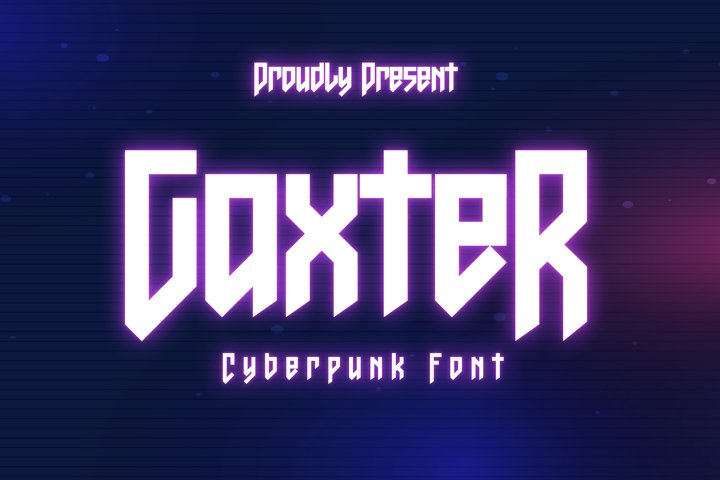 Gaxter - Cyberpunk Font