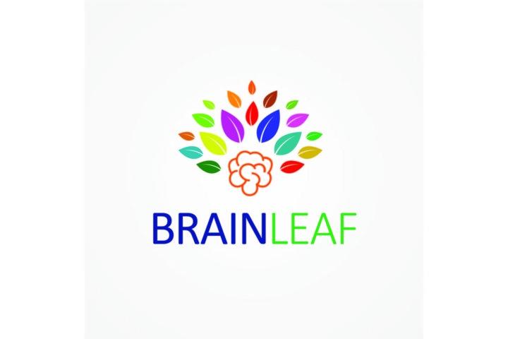 Brain Leaf Logo Template