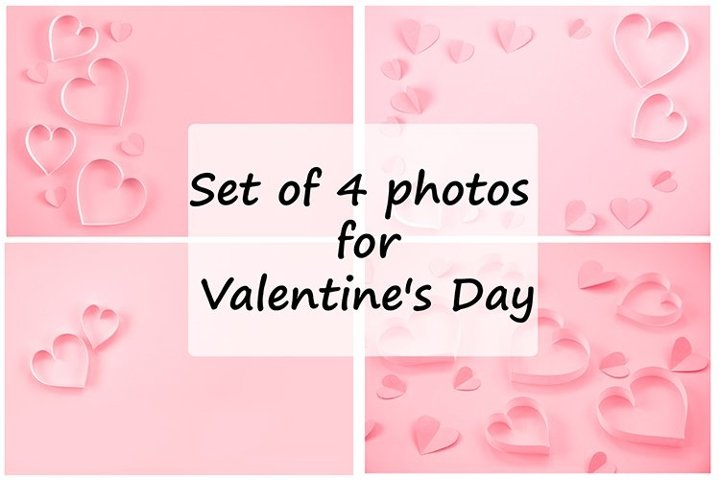 Set of 4 photos for Valentines Day.
