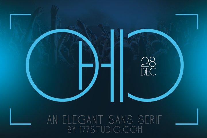 Ohio - Futuristic Sans Serif Font