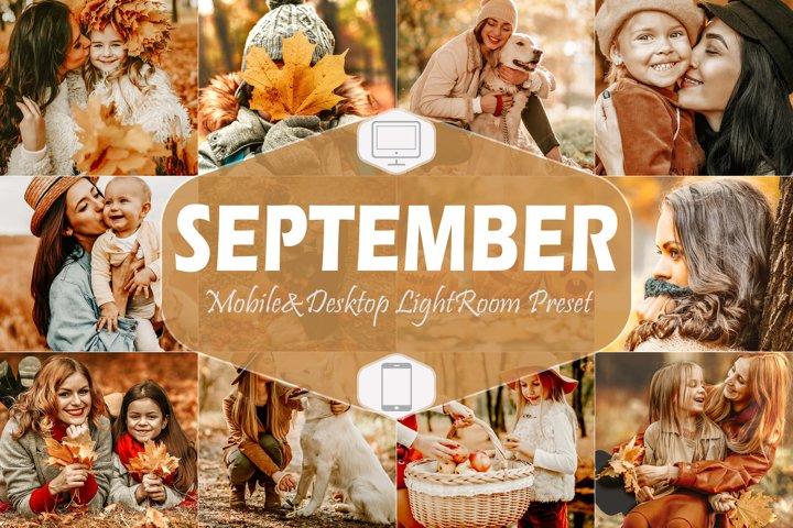 10 September Mobile & Desktop Lightroom Presets, fall Filter