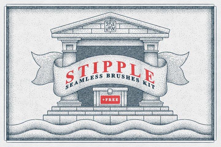Stipple Seamless Brushes Kit