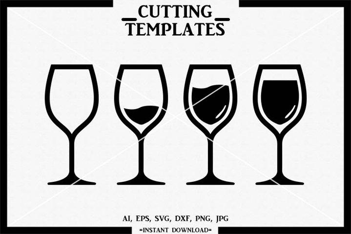 Wine Glass SVG, Wine, Wine SVG, Silhouette, Cricut, SVG, DXF