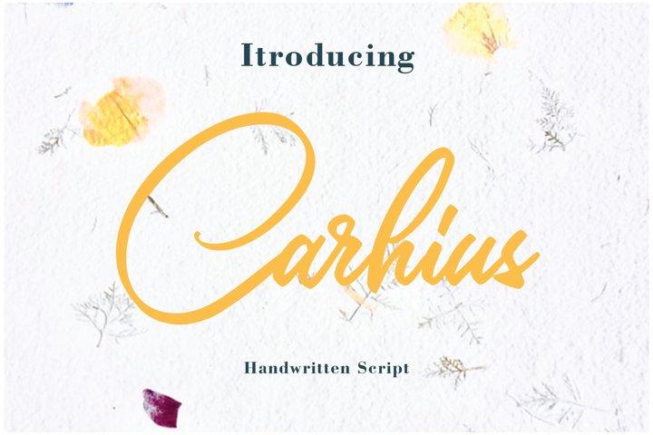 Carhius - Script Font