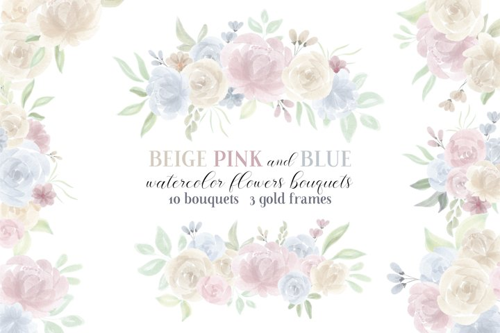 Watercolor Flowers and Bouquets