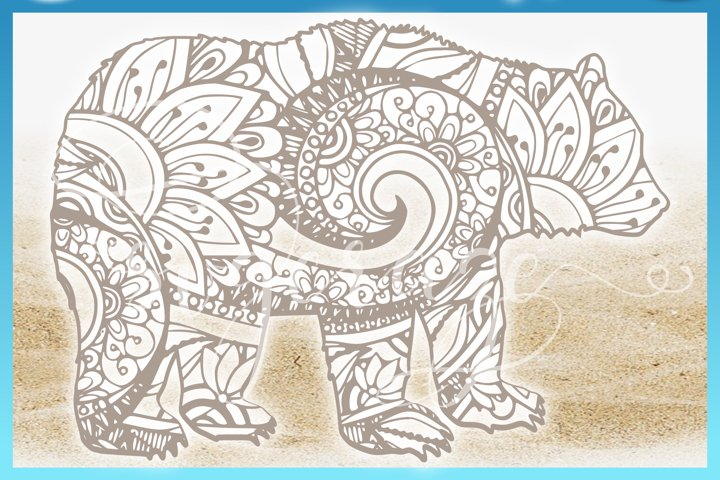 Download Free Svgs Download Bear Mandala Zentangle Svg Dxf Eps Png Cricut Silhouette Free Design Resources