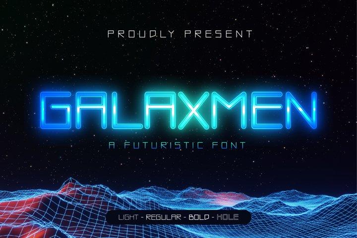 GALAXMEN - A FUTURISTIC FONT