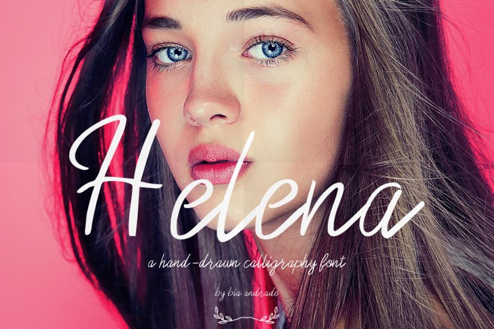 Helena a hand-drawn calligraphy font
