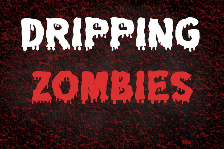 Dripping Zombie Halloween Font