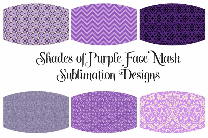 Face Mask Sublimation Designs Purple Colors PNG Files