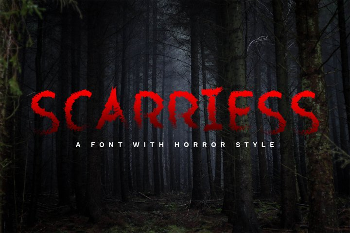Scarriess - A Font With Horror Style