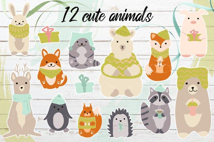 Winter's cute animals example 1