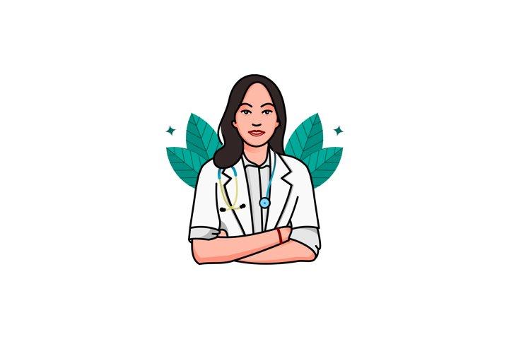 Illustration of nurse