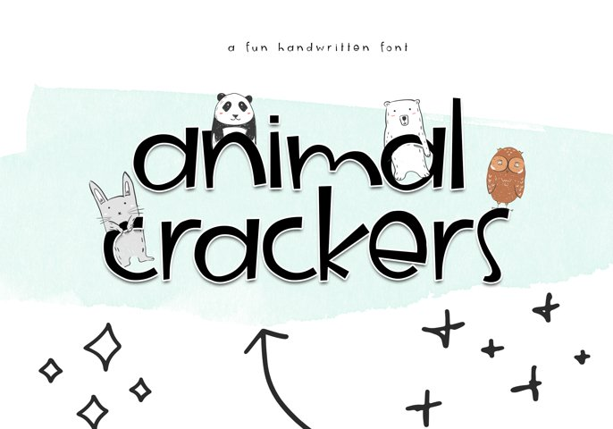 Animal Crackers - A Fun Handwritten Font - Free Font of The Week Design4
