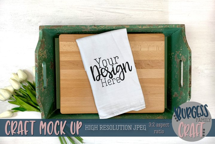 Farmhouse flour sack towel | Craft mock up