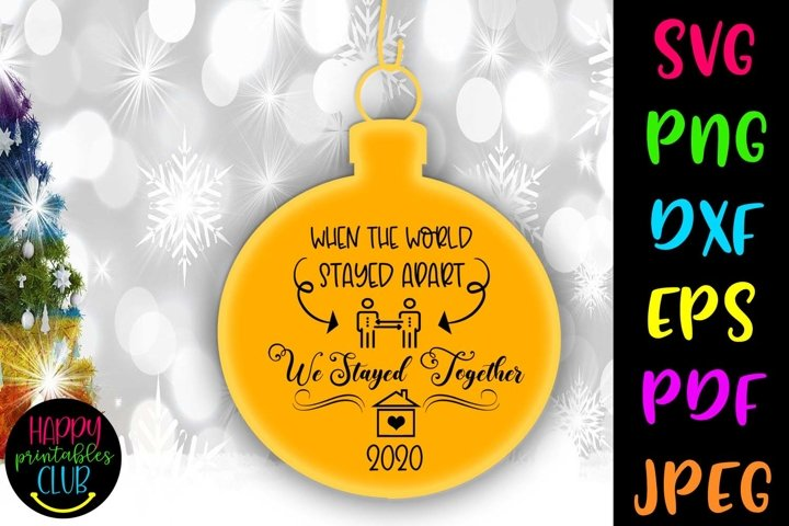 Christmas Quarantine SVG- Christmas Quarantine Ornaments SVG