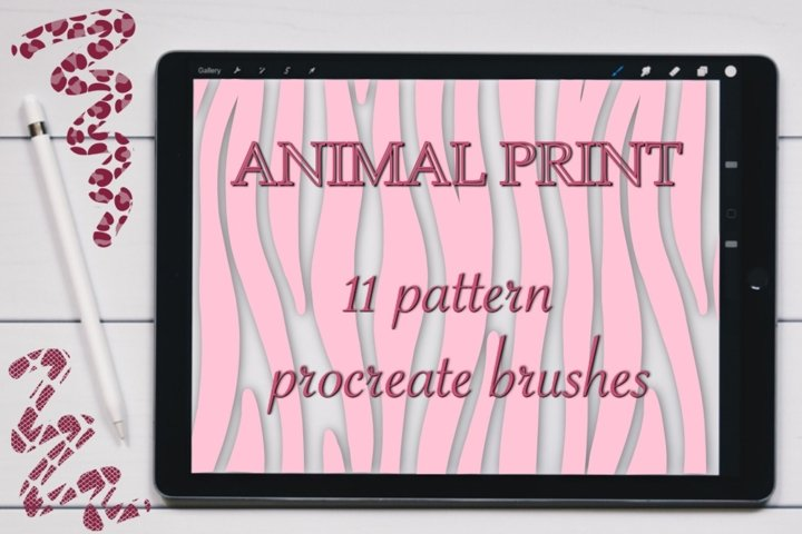 Animal Print seamless pattern brushes for Procreate