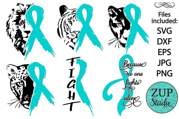 Ovarian Cancer Ribbon design 535