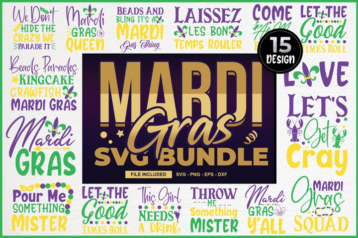 Mardi Gras Svg Bundle, SVG Cut File Bundle, funny quotes svg