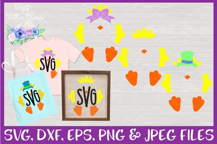 Chick Monogram SVGs - Easter Designs