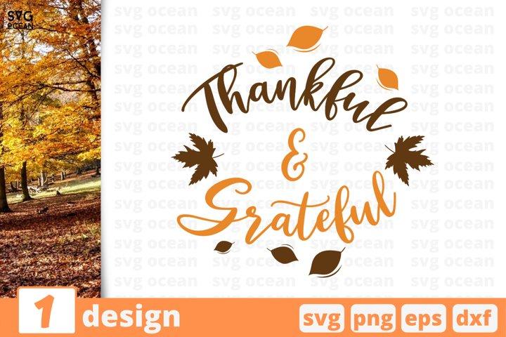 Thankful & Grateful SVG Cut file | Fall cricut | Autumn
