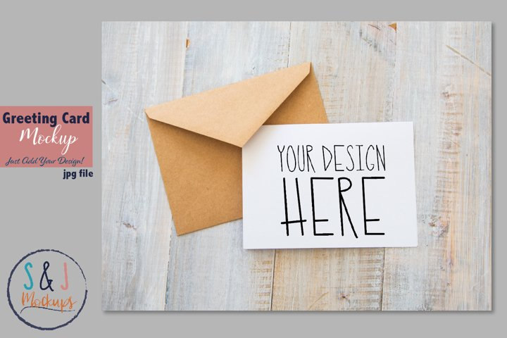 Blank card mockup, digital card mockup photo, mockup photo