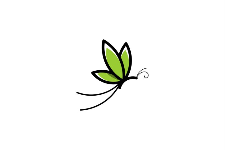Creative Line Art Butterfly Logo