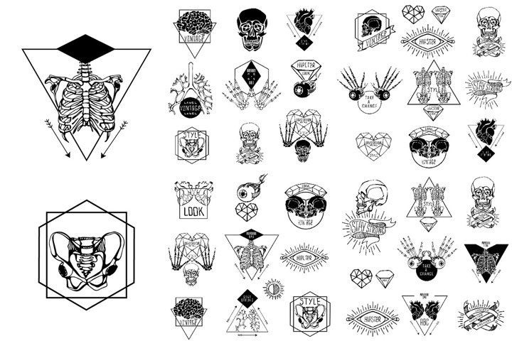 Set of mystic illustration