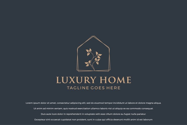 Luxury Home Logo Design Concept