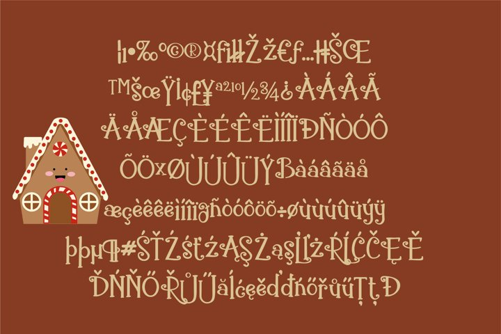 ZP Gingerbread Cake - Free Font of The Week Design1
