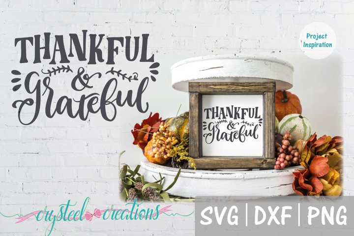 Thankful & Grateful SVG, DXF, PNG, EPS