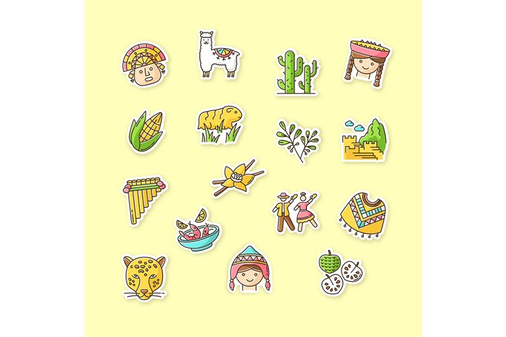 Peru printable patches example