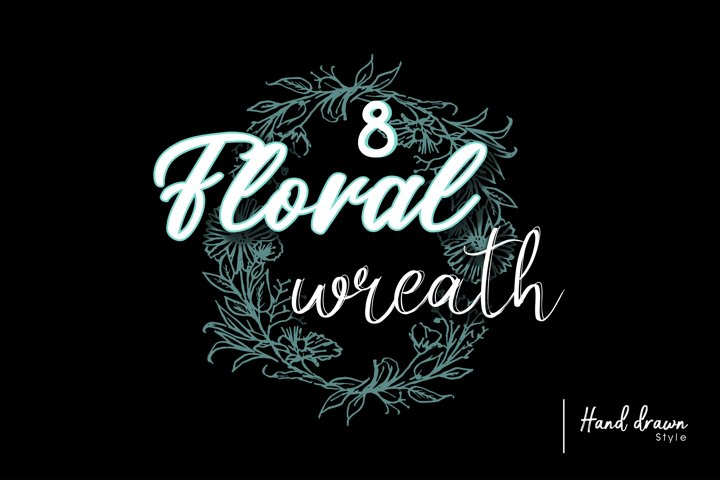 8 Floral wreath