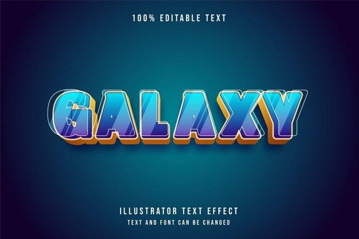 Galaxy - Text Effect