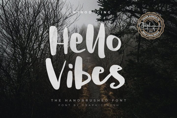 Hello Vibes - The Handbrushed Font