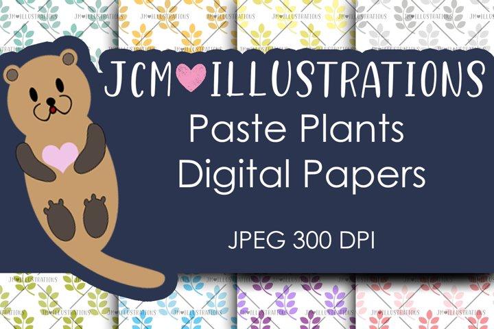 Paste Plants - Digital Papers - Digital Scrapbook Papers