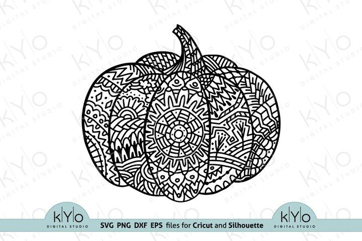 Pumpkin Mandala svg, Zentangle Pumpkin Svg, Thanksgiving svg