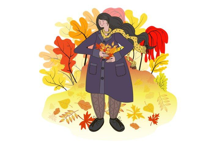 Autumn postcard.