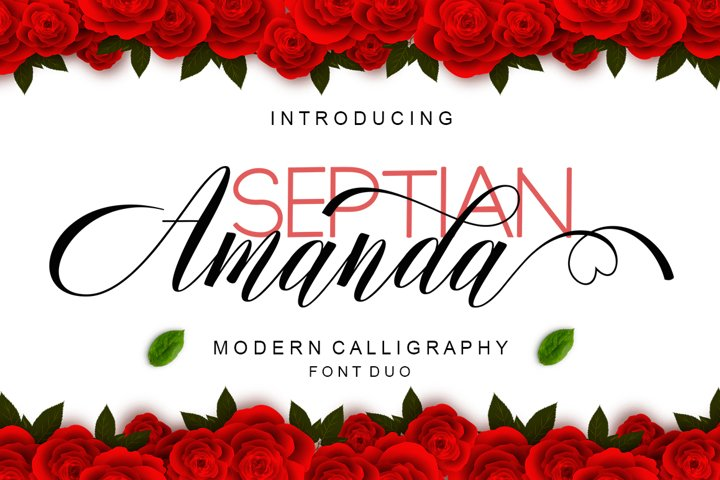 Amanda Script Font Duo