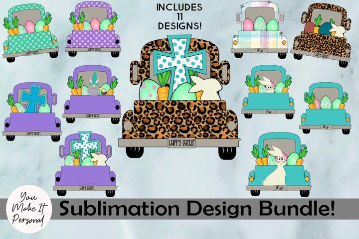 Sublimation Easter Bundle, 11 Easter Truck Designs!